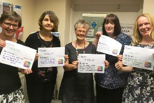 The HARCVS team is pictured supporting Small Charities Week.