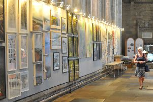Ripon Cathedral is hosting the Great North Art Show.