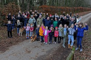 3 January  2019   ......    Residents in Aberford celebrate after a proposed huge housing development on the Parlington Estate was blocked. Picture Tony Johnson.