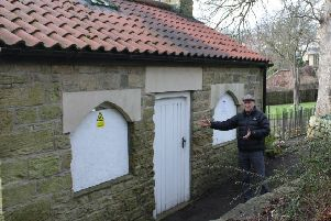 Bath house under attack by vandals