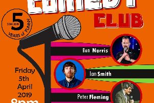 The Frazer Comedy Club is on next Friday