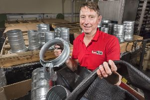 Mike Shakespeare of Harrogate-based HoseShop Ltd, which has won a repeat order from an African diamond-mining company.