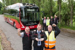 Team Electric: (front, l to r) Simon Bolland, general manager Alan French, Mark Wilkinson; (back, l to r) Frank Paul, Andy Senior, Andrew Turnbull, Chris Long.