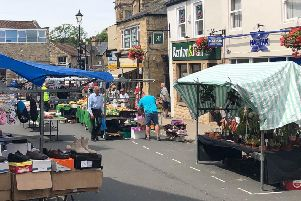 Summer fun in stall at Wetherby market