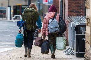 Date: 27th August 2018.'Picture James Hardisty.'Festival goers returning home after spending the Bank Holiday weekend at Leeds Festival held at Bramham Park near Wetherby.