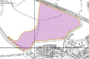 The proposed development which is on the edge of Wetherby, but falls within Harrogate district boundaries.