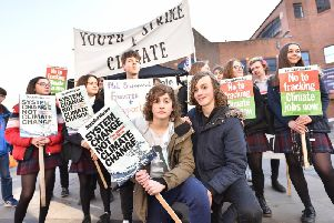 An earlier climate protest in Scarborough in February this year. PIC: Richard Ponter