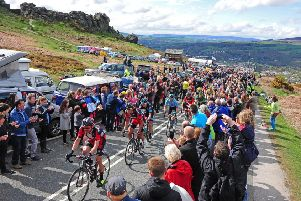 Action from this year's Tour de Yorkshire. Picture: Tony Johnson.