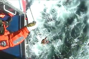 VIDEO: Coastguard airlift man from fishing boat in trouble off Yorkshire coast