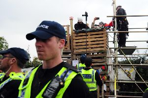 Fracking protests earlier this week.