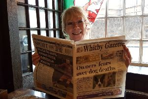Keeping up with Whitby news ... at Cook's 'local' by the River Thames