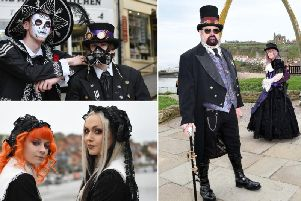 Some of the stunning outfits on show at Whitby Goth Weekend 2018.