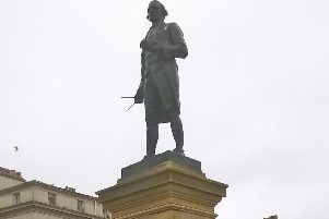 The Captain Cook statue has been restored.