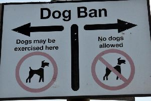 Dogs are banned on Whitby beach from May to September.