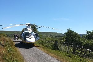 The air ambulance was called to Danby