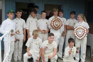 Whitby CC U14s celebrate their successful season
