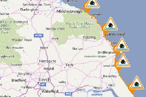 Flood alerts issued for Yorkshire coast: Whitby, Scarborough, Bridlington and Hull at risk