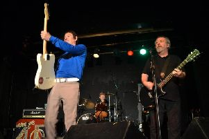 Pete Shelley, right, with fellow original Buzzcocks bandmate Steve Diggle.