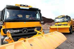 Local authority vehicles loading up salt at ICL Boulby to help keep the country moving.