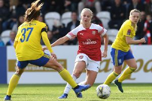 Beth Mead in action for Arsenal. Picture: Getty Images.