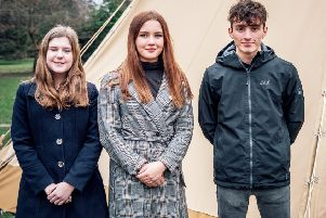 North Yorkshire's new Members of the UK Youth Parliament. From left, Molly Richardson, Rebecca Morgan, of Whitby and Torin Zeiboll.