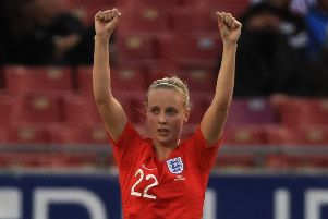 England's Beth Mead: Happy with progress. Picture: Getty Images