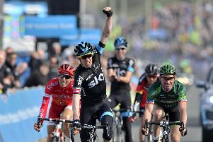 The Tour de Yorkshire finishing in Scarborough