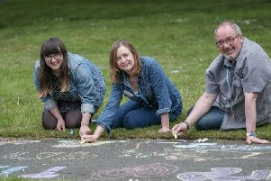 Scarborough Museums Trust staff - Ruth Yoxon,Christine Rostron and  Bill Thomas