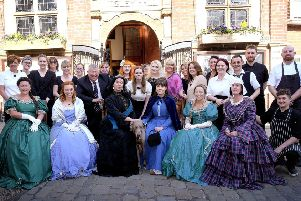 The Whitby Jet Museum opening  Staff and guests gather with royalty .pic Richard Ponter