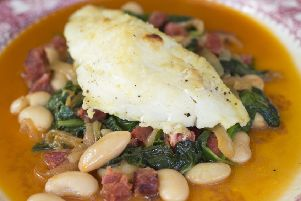 Try this fish dish courtesy of The Magpie Cafe, Whitby – cod, butter bean and chorizo