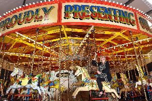 Take a spin on the carousel at Scarborough Fair.