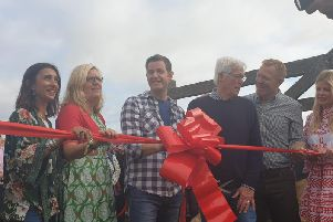 John Craven cuts the ribbon to open Countryfile Live