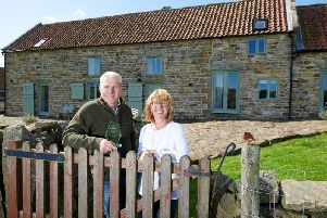 John Brooks and Lynn Bowler at The Long Barn, Goathland