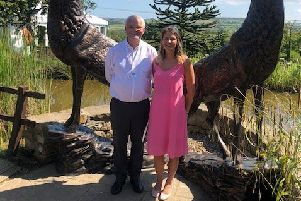 Whitby father and daughter Peter and Megan Graham, who are trekking across the Canadian rockies - and also holding a charity casino night at The Stables at Cross Butts.