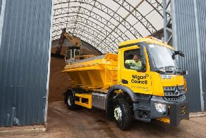 A Wigan gritter ready for action
