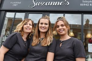 Emily Starkie, centre, has set up a new beauty business, joining her mum Suzanne, left, and sister Beth