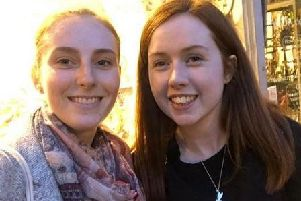 Wigans ambassador to Angers Eve Davis (right), pictured with her predecessor in the role Chloe Bradley