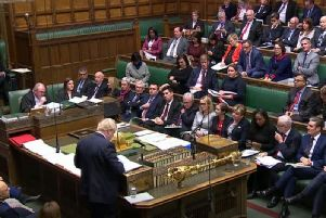 Boris Johnson addresses the House of Commons