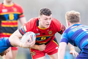 Callum Field in action for Dewsbury on loan last season. Picture: SWPix