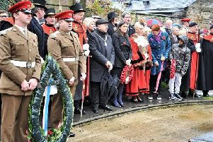 Wigan Remembrance Day Parade and Ceremony last year