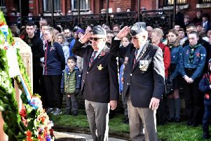 Wigan falls silent on Remembrance Sunday 2019