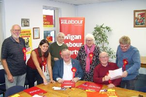 Lisa Nandy with Wigan Labour activists