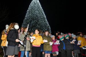 Children from The Keys Federation Schools sing at the annual Light for a Life service at Wigan and Leigh Hospice