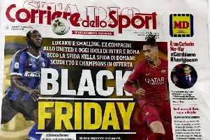 The controversial front page of the Italian sports daily Corriere dello Sport
