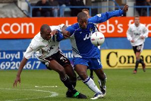 Action from Luton Town v Wigan Athletic...