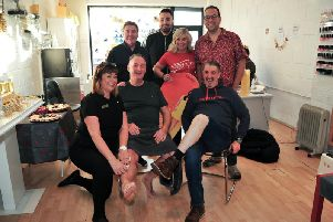 A sponsored wax was arranged to support Wigan and Leigh Hospice