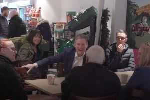 Sir Keir Starmer visits Leigh to hear from community groups, businesses and Labour activists following the partys shock general election defeat there