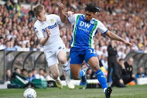 Reece James in action for Latics at Leeds