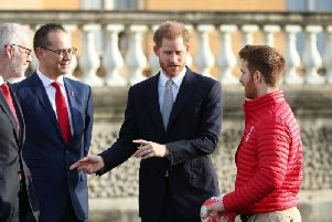 Prince Harry helped conduct the rugby league World Cup draw last week