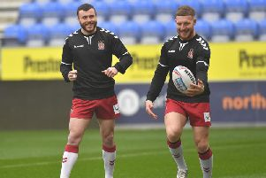 Wigan fans got their first glimpse of Jake Bibby and Jackson Hastings